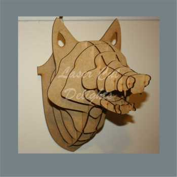 Wall Mount Fox Head 3mm 28cm approx