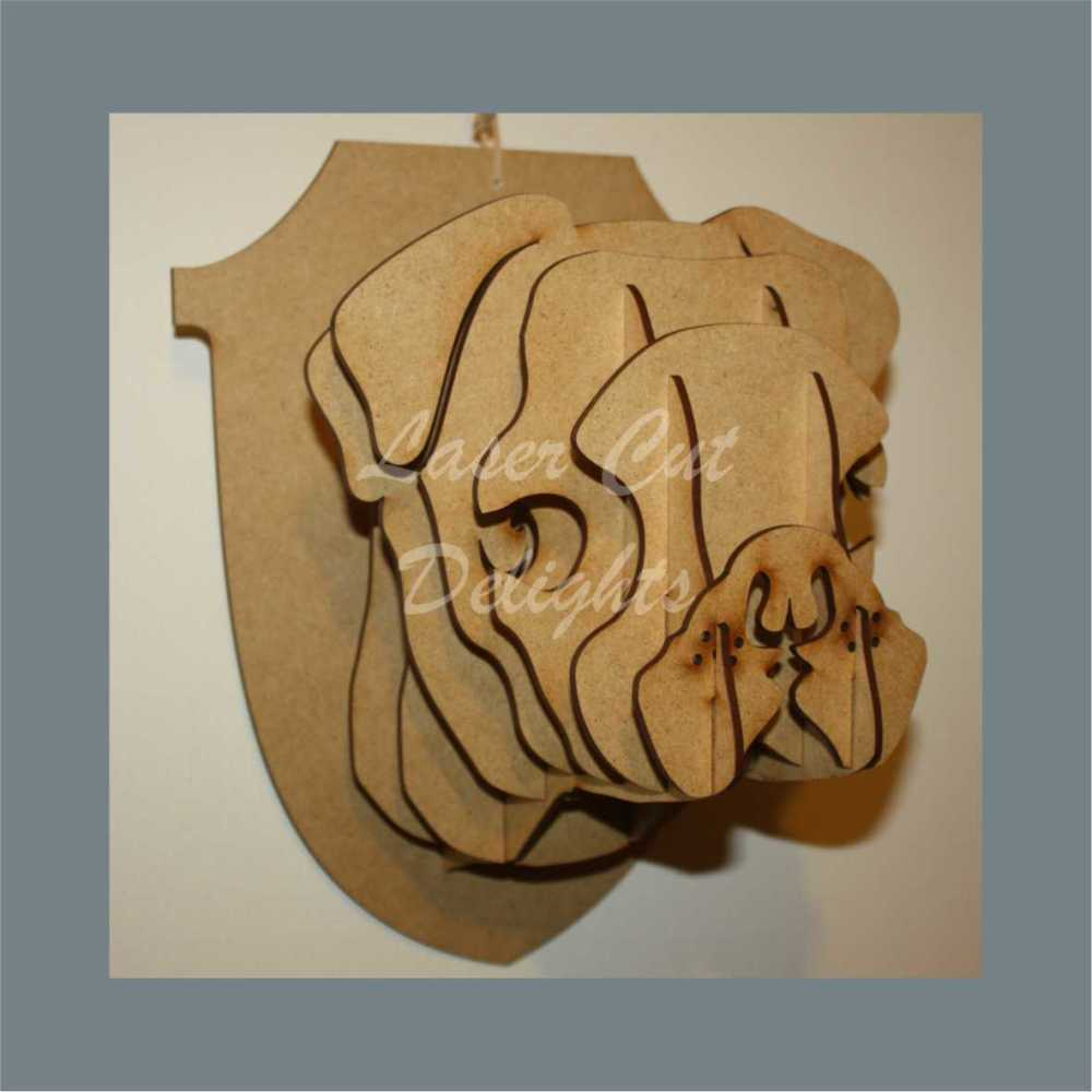 Wall Mount Pug Head / Laser Cut Delights