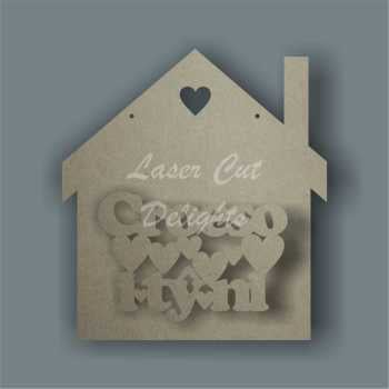House 3D - Croeso i tÅ· ni / Laser Cut Delights