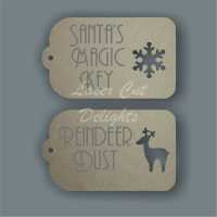 Tag Fancy - Santa's Magic Key or Reindeer Dust 3mm 8cm