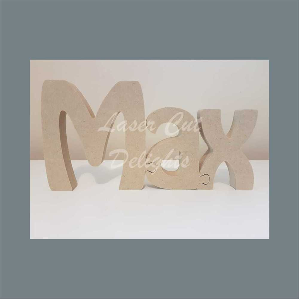 Personalised JIGSAW PUZZLE 18mm / Laser Cut Delights