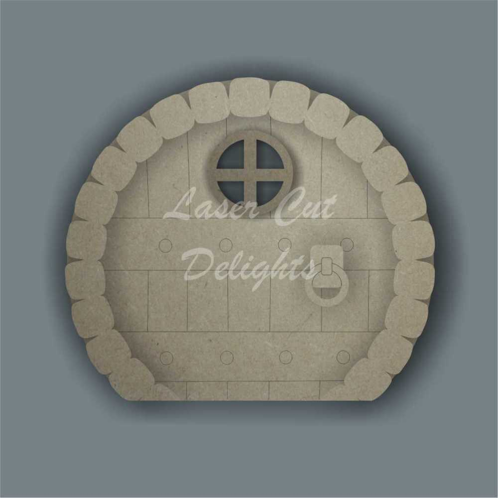 3D Fairy Door HOBBIT STONE edged 3mm