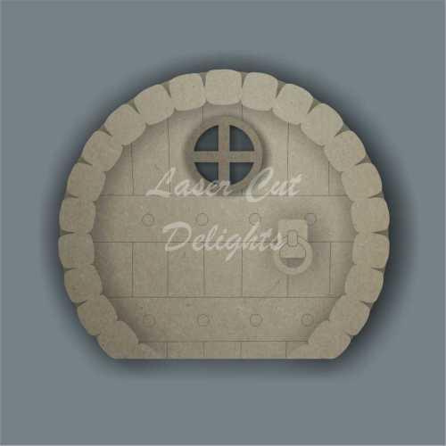 3D Fairy Door CIRCLE BRICK edged 3mm 15cm