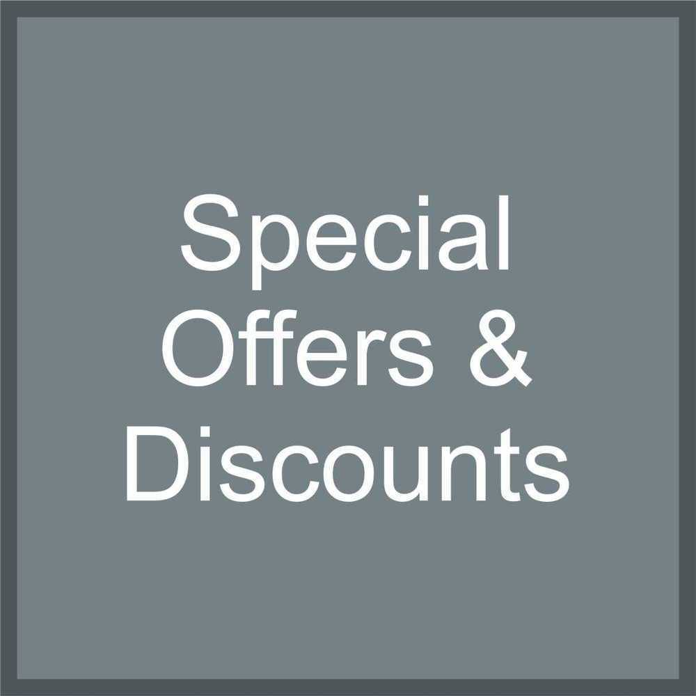 *Special Offers & Discounts*