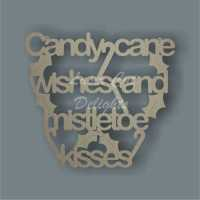 Candy Cane Wishes and Mistletoe Kisses 3mm 25cm