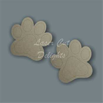 Paw Print New (pairs) 3mm