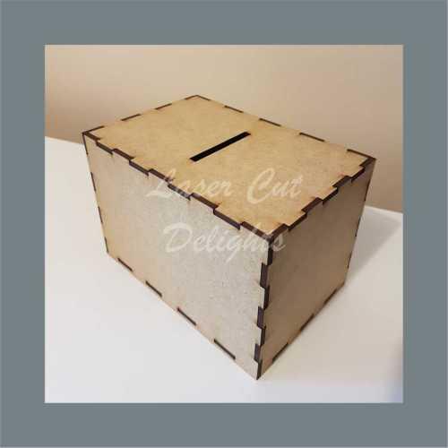 Money Box - Plain 3mm 15x10x10cm