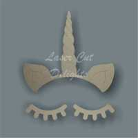 Unicorn Horn & Eyelashes Set / Laser Cut Delights