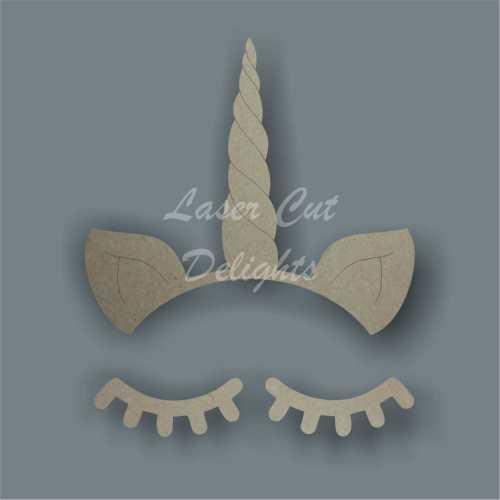 Unicorn Horn & Eyelashes 3mm and 6mm