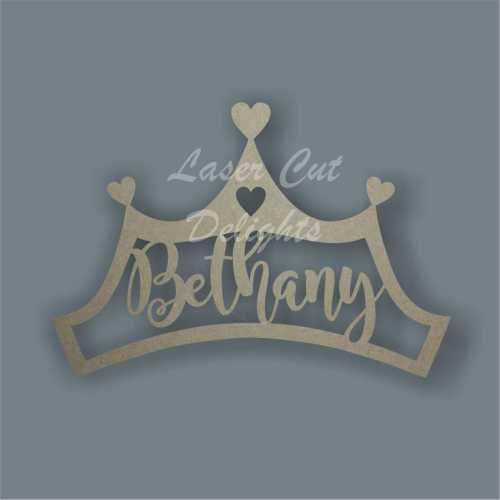 Tiara Crown Princess Personalised Wood Sign