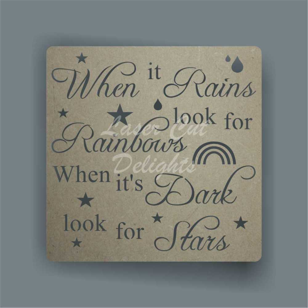 Cut Through - When it Rains look for Rainbows, When it's Dark look for Star