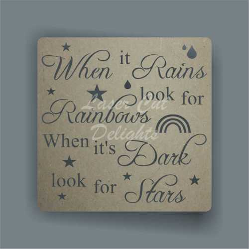 Cut Through - When it Rains look for Rainbows, When it's Dark look for Star