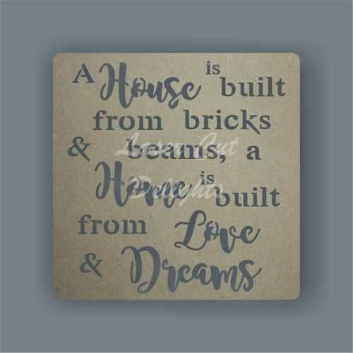 Cut Through - A House is build from Bricks and Beams, A Home is build from