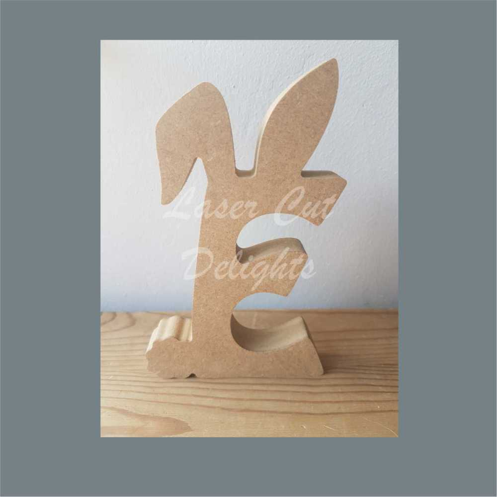 Topped Easter Bunny Ears Letters 18mm / Laser Cut Delights