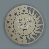 CLOCK - Sun & Moon Face / Laser Cut Delights