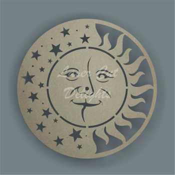 CLOCK - Sun & Moon Face / Laser Cut Delights