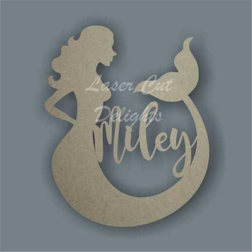 Personalised Mermaid Silhouette Plaque Sign