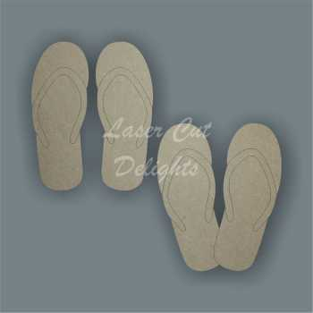 Sandal Flip Flops 3mm / Laser Cut Delights