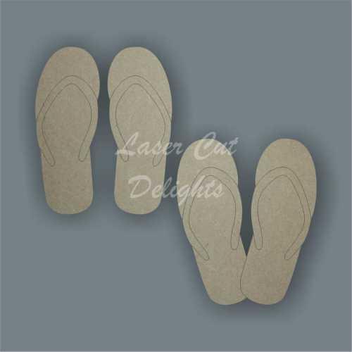 Sandal Flip Flops 3mm / Laser Cut Delights