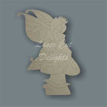 Flirty Fairy on a Mushroom / Laser Cut Delights