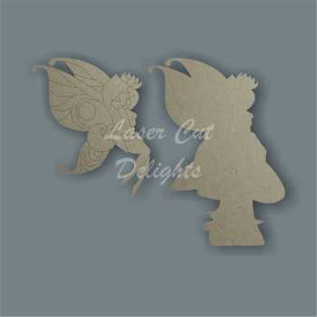 Flirty Fairy on a Mushroom 3D / Laser Cut Delights