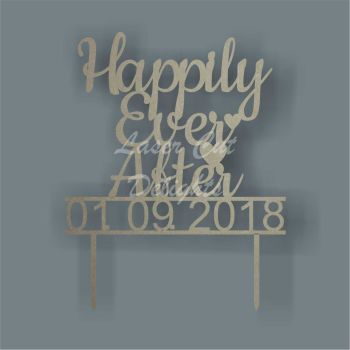 Cake Topper - Happily Ever After (date) / Laser Cut Delights