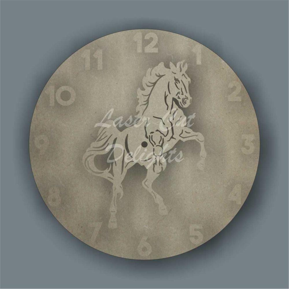 Clock - Horse / Laser Cut Delights