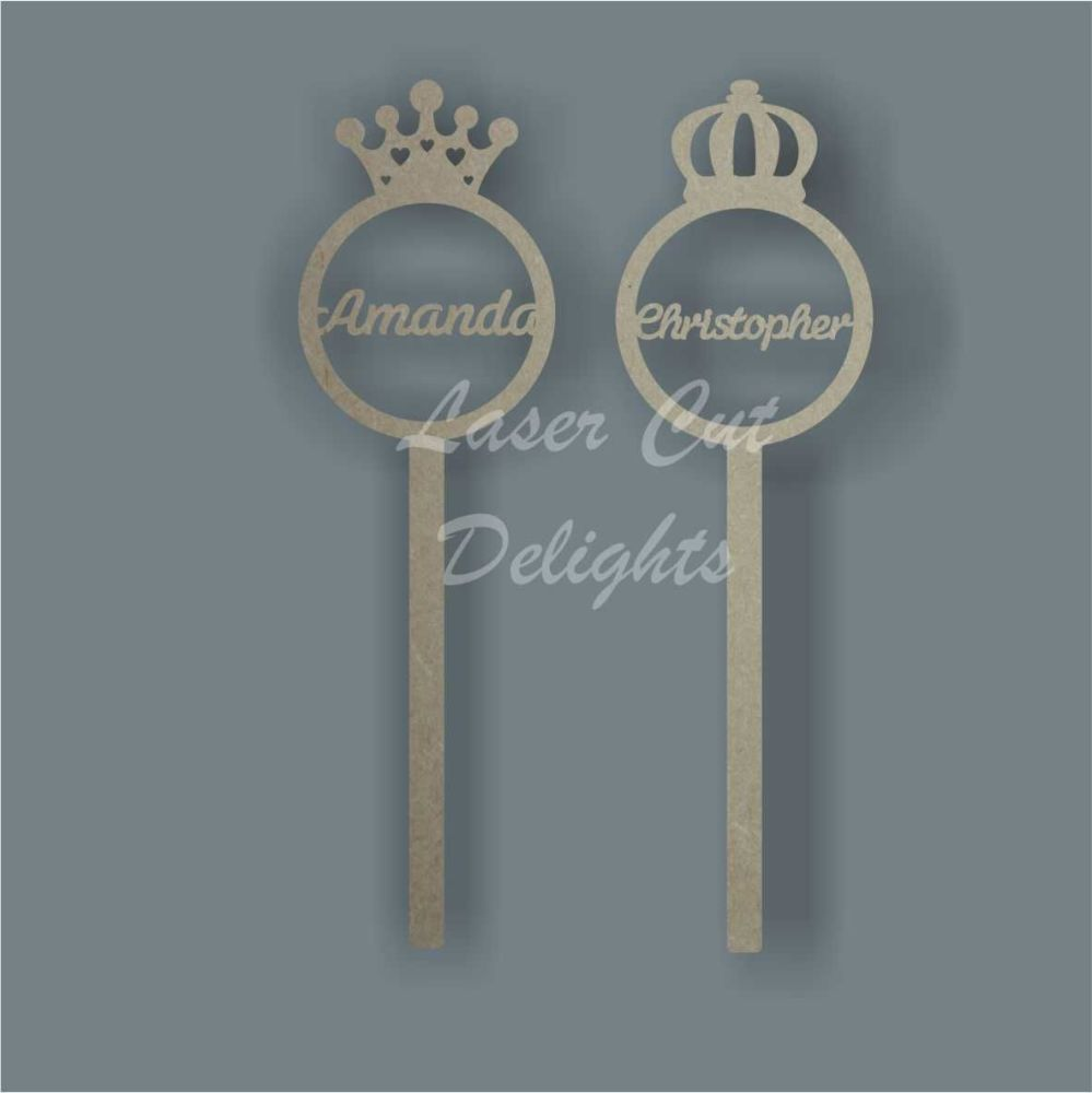Wand Bauble Crown Personalised / Laser Cut Delights