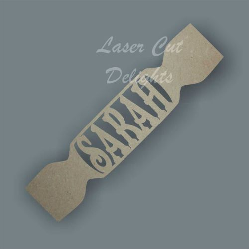Cracker with Single Name inside / Laser Cut Delights