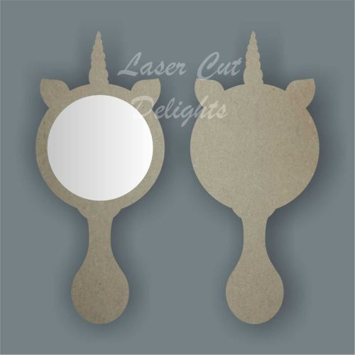 Handheld Mirror UNICORN / Laser Cut Delights