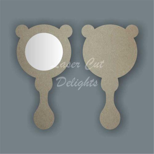 Handheld Mirror BEAR / Laser Cut Delights