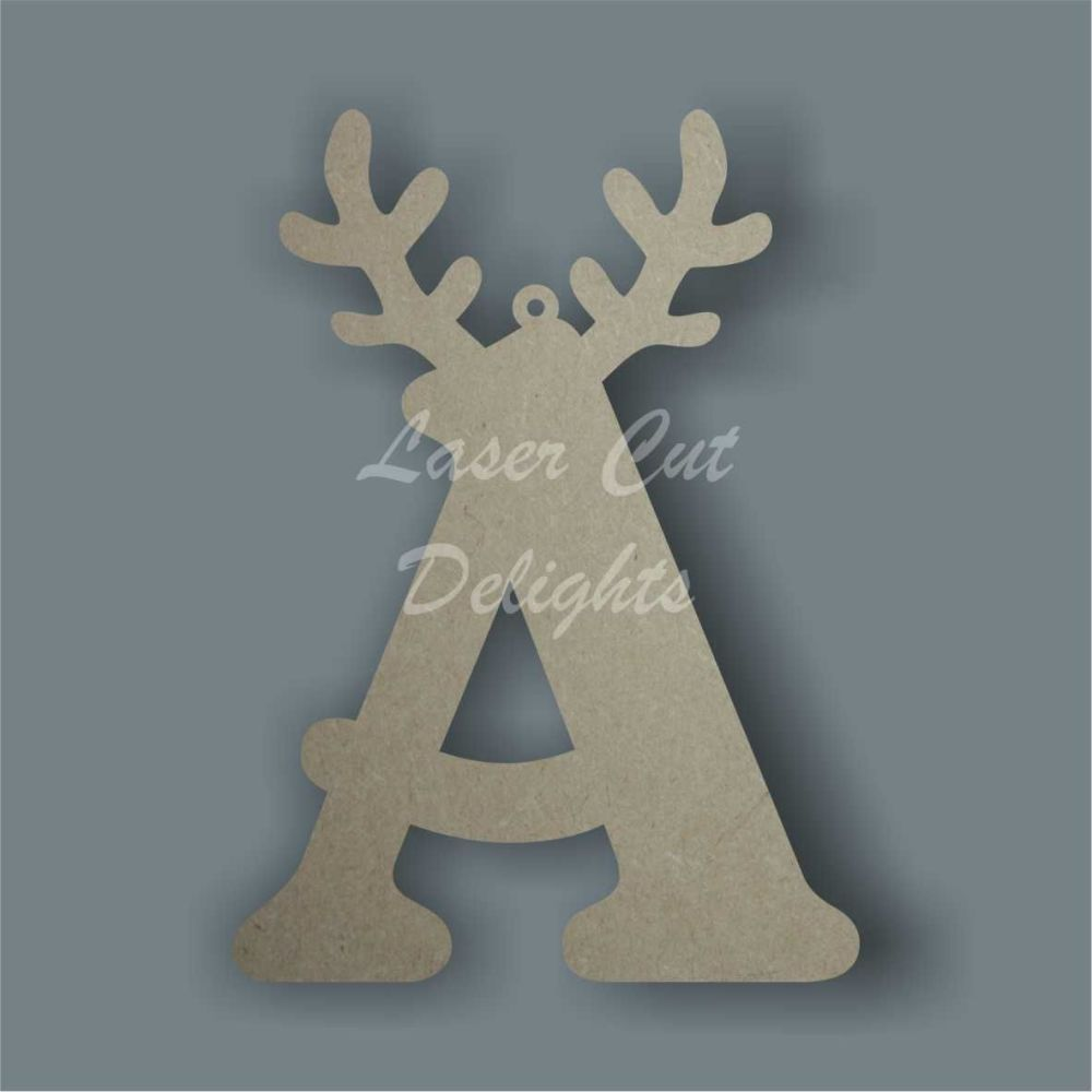 Topped Letter Antler Baubles / Laser Cut Delights