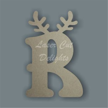 Topped Reindeer Antler Letters 18mm / Laser Cut Delights