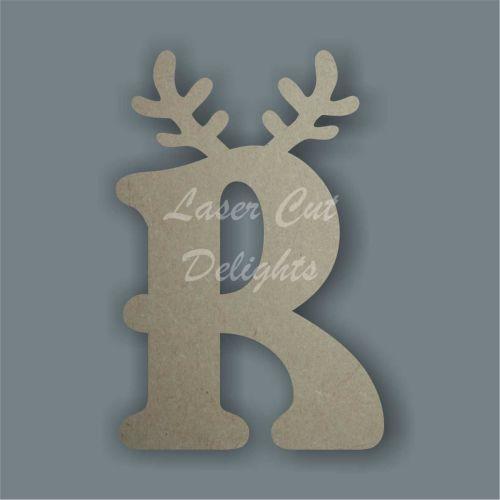 Topped Reindeer Antler Letters 18mm / Laser Cut Delights