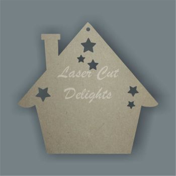 Bauble - House with Stars / Laser Cut Delights