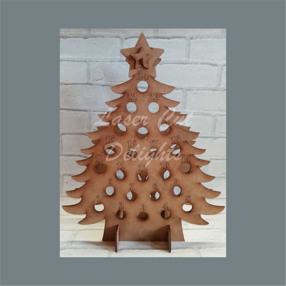 TIPPLE TREE Miniature Alcohol Bottle Advent Calendar / Laser Cut Delights