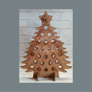 TIPPLE TREE Miniature Bottle Advent Countdown / Laser Cut Delights