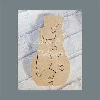 Puzzle Snowman 18mm / Laser Cut Delights