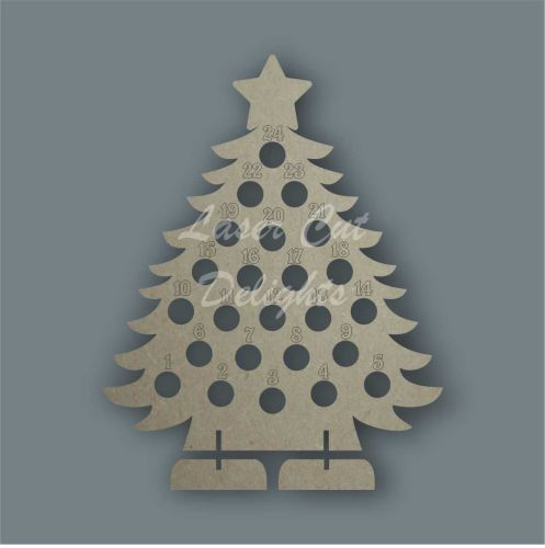 Advent Countdown Chocolate Holder Tree / Laser Cut Delights