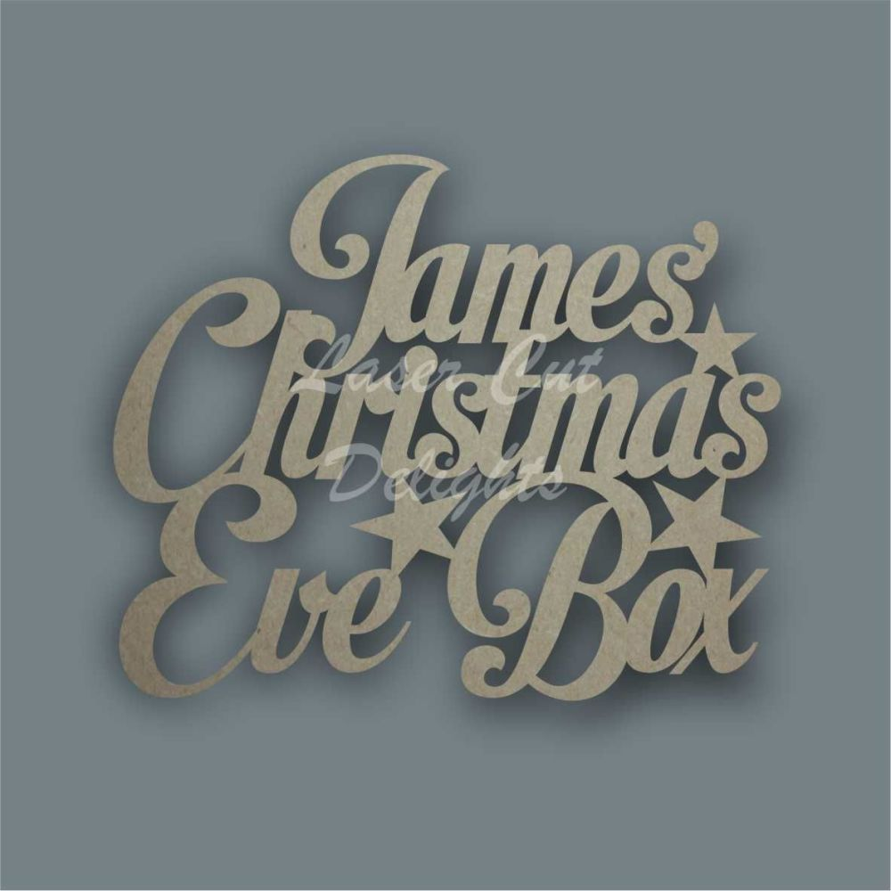 Christmas Eve Box Lid Topper NEW / Laser Cut Delights