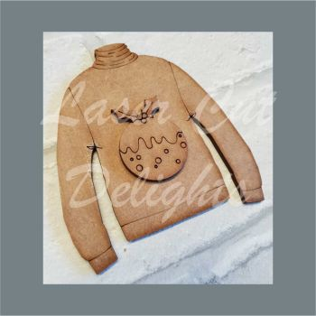 Jumper with Pudding / Laser Cut Delights