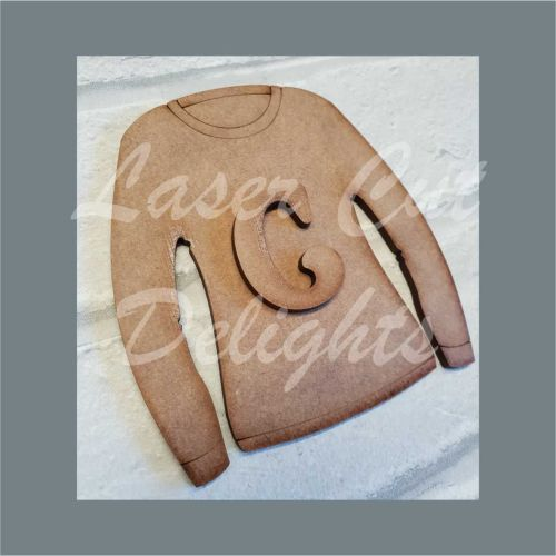 Jumper with Letters / Laser Cut Delights