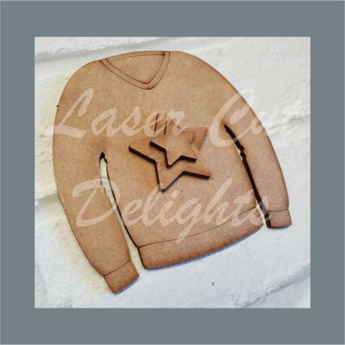 Jumper with Stars / Laser Cut Delights