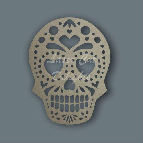 Sugar Skull bauble wooden shape
