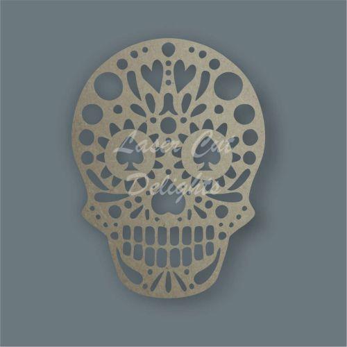 Sugar Skull laser cut mdf shape decorate