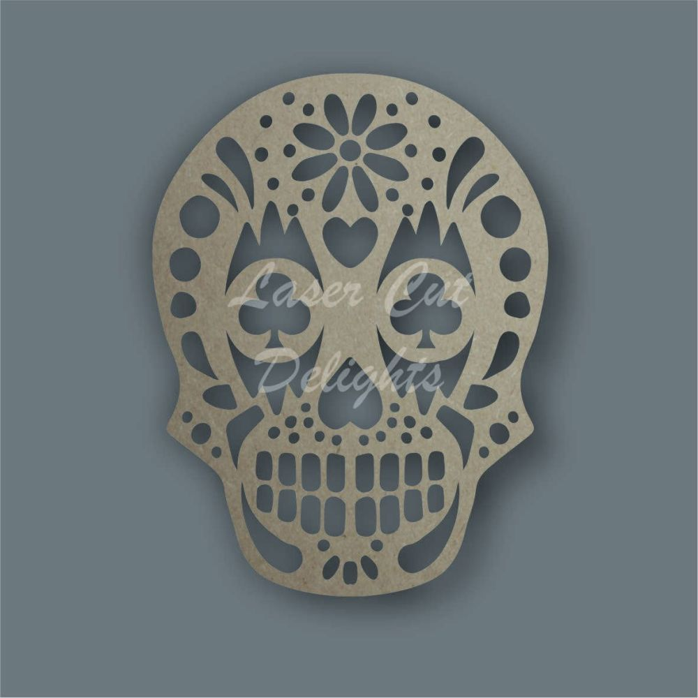 Sugar Skull CLUBS Stencil / Laser Cut Delights