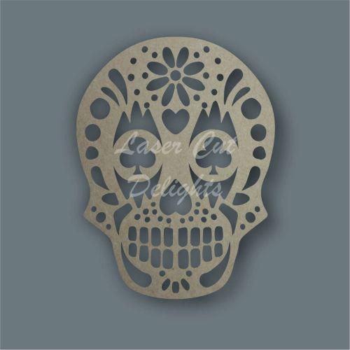 Sugar Skull craft shape wood mdf