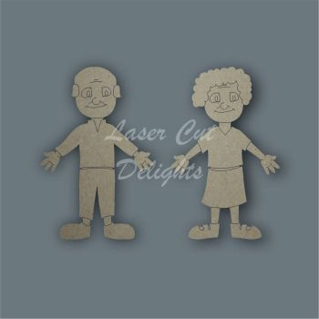 Family Character GRANDPARENTS / Laser Cut Delights