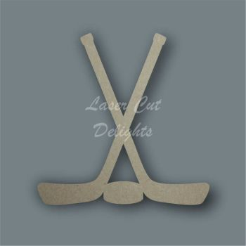 Hockey Sticks and Puck / Laser Cut Delights