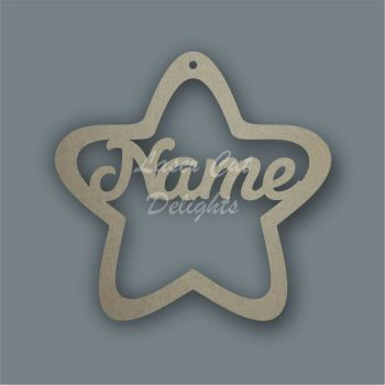 Bauble - Star Personalised / Laser Cut Delights